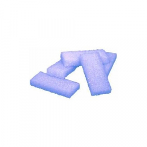 Cre8tion Disposable Mini Pumice Sponge, 28000, Blue, 400 pcs./box, 4boxes/case KK1214