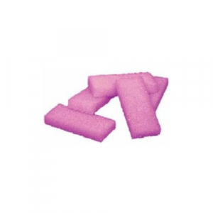 Cre8tion Disposable Mini Pumice Sponge, 28004, Pink, 400 pcs./box, 4boxes/case