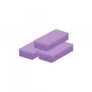 Cre8tion Disposable Short Pumice Sponge, 28007, Purple, 100 pcs./box BB
