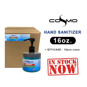 Cosmo Hand Santizer Gel, Case, 16oz, 18pcs/case OK0411MD