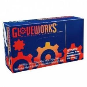 Ammex TLF Gloveworks Latex Glove, Disposable, Powder Free, Size Large (box)
