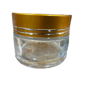 40ML (Clear) Glass Jar with Golden Cap