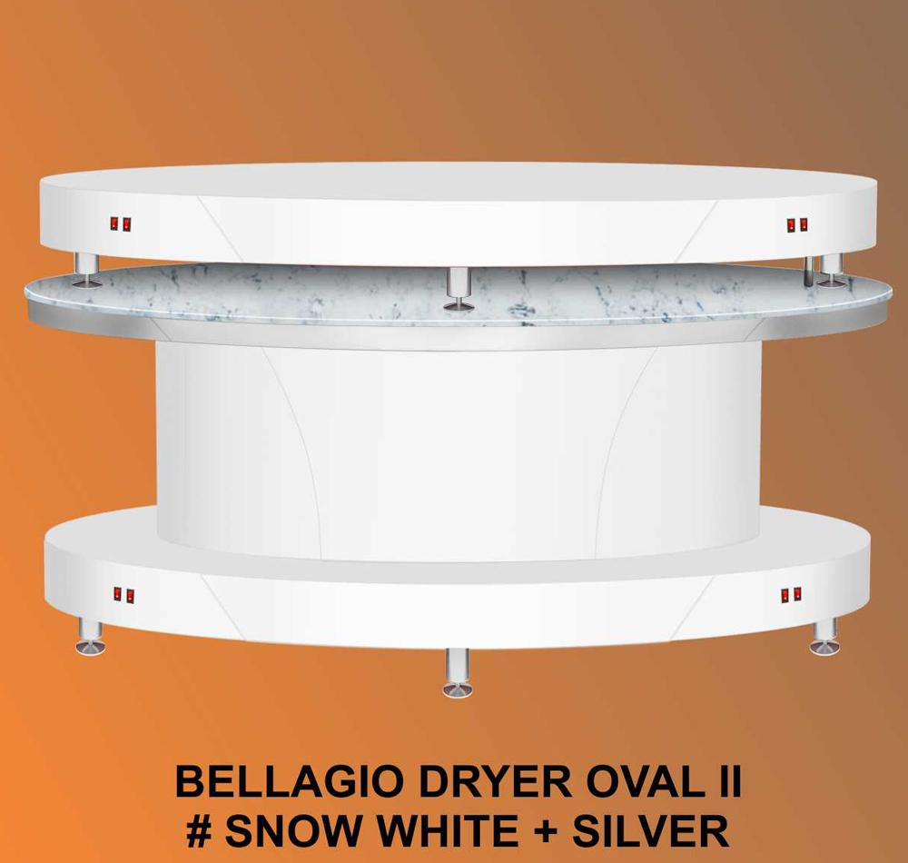 Bellagio II Dryer Oval Snow White
