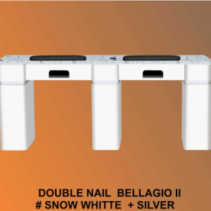 Bellagio II Table Double White with 1 Gel Hole