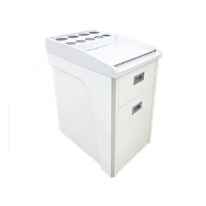 Amy 2 Pedi Cart White Low