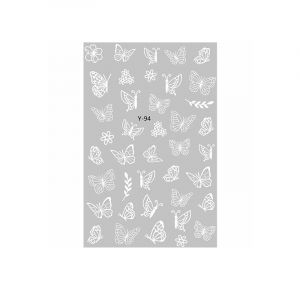 Butterfly Sticker Y94 (white)