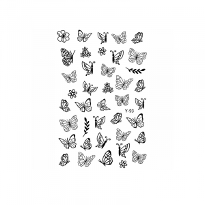 Butterfly Sticker Y93 (black)