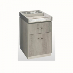 Taylor Pedi Cart Low - Silver