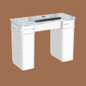 Bellagio II Single Table White Vent Pipe