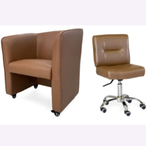 Combo Elegant Customer & Dover Technician Chair Cappuccino