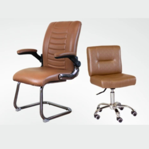 Combo Atlanta Customer & Dover Technician Chair Cappuccino Italy