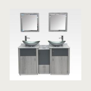 Taylor Silver Double Sink