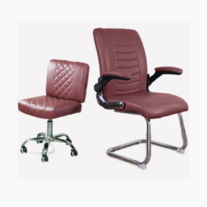 Combo Combo Atlanta Customer & Daytona Technician Chair Burgundy Burgundy
