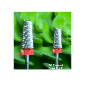 SC Tapered Cross Cut F - Nail Drill Bit (silver)
