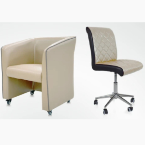 Combo Elegant Customer & Luxury Technician Chair Cream
