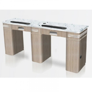 Bellagio I Double Table Summer Oak Exhausted Pipe