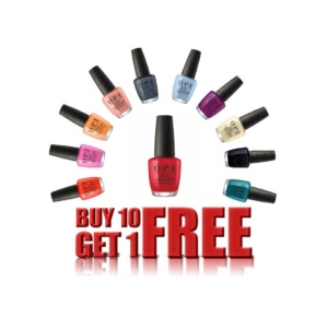 OPI Nail Lacquer, 0.5 Oz, Buy 10 get 1 Free