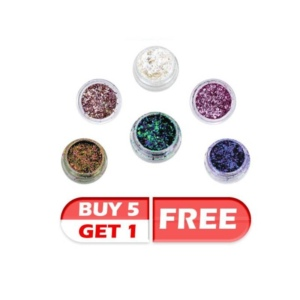 Cre8tion Nail Art Chameleon Flakes, Buy 5 get 1 FREE