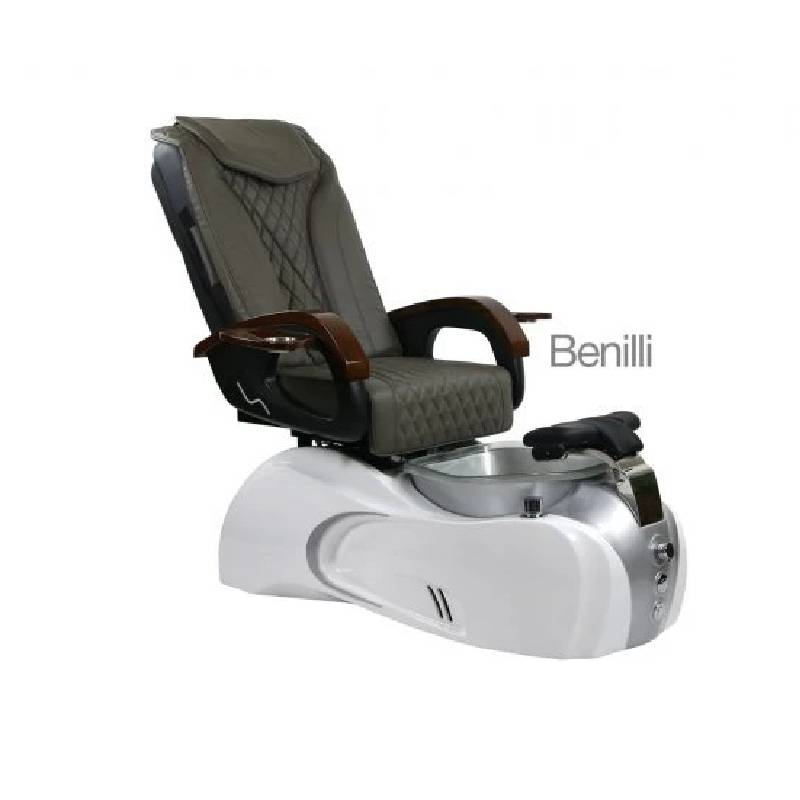 Benilli, Pedicure Spa Chair, White Silver KK (NOT Included Shipping Charge)