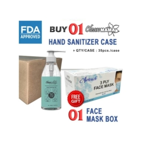 Cleanmama Hand Sanitizer Gel, Buy 01 Case Cleanmama Hand Sanitizer Gel (35 Pcs/Case) Get 01 Box Airtouch Disposable Face Mask (50 Pcs/Box) Free