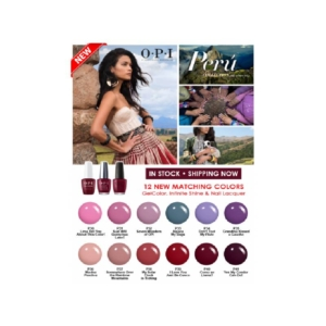 OPI Peru Collection 12pcs Matching Gel & Lacquer