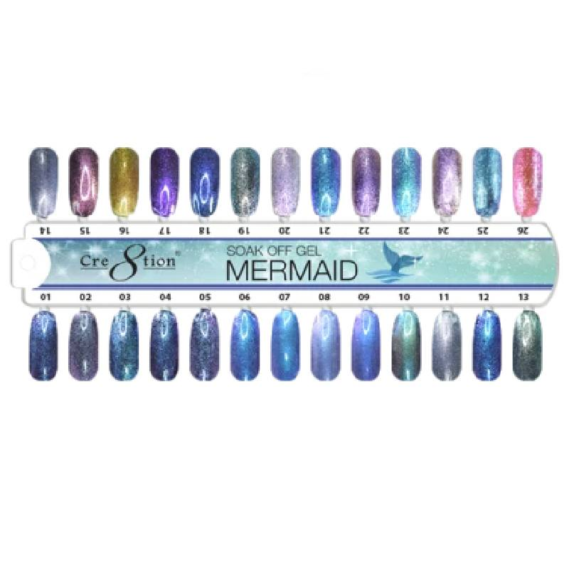 Cre8tion Mermaid Gel Polish, 0.5 Oz, Tips Sample KK