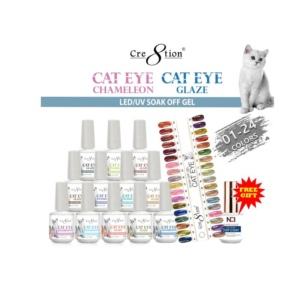 Cat Eye Chameleon + Glaze Eye Gel Polish, 0.5 Oz, Full Line Of 24 Colors (from CE01 to CE24, Price: $7.46/pc) Pro