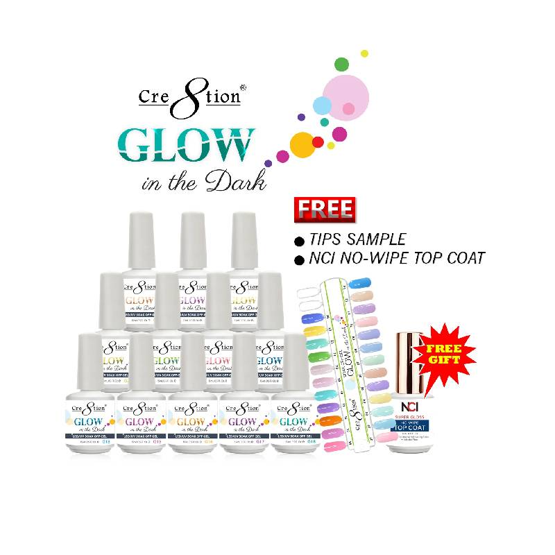 Cre8tion Glow in The Dark Gel, 0.5 Oz, Full Line Of 24 Colors (from G01 to G24) KK1214