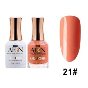 Aeon Gel Polish + Nail Lacquer, 021, Cherry Tom, 0.5 Oz OK0326LK
