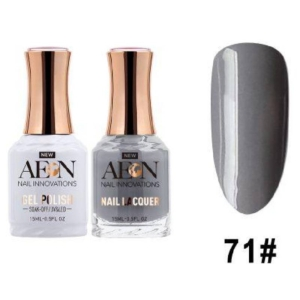 Aeon Gel Polish + Nail Lacquer, 071, Steel My Heart, 0.5 Oz OK0326LK