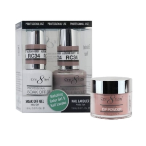 Cre8tion 3in1 Dipping Powder + Gel Polish + Nail Lacquer, Rustic Collection, RC34 KK1206