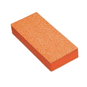 Cre8tion Disposable Slim Buffer, Orange Foam, White Grit 80/100, 1000 Pcs/case, 06075