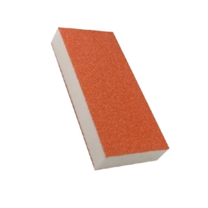 Cre8tion Disposable Slim Buffer, White Foam, Orange Grit, 80/100, 06085 OK1109MD