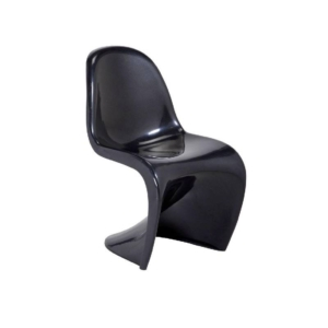 Cre8tion Fiberglass Waiting Chair, Black, WC001BK (Not Included Shipping Charge)