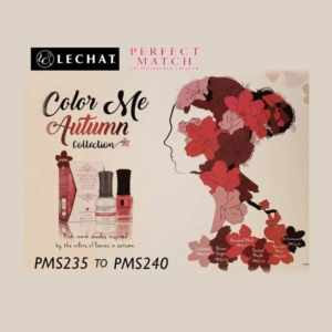 LeChat Perfect Match Nail Lacquer And Gel Polish, Color Me Autumn Collection, Full Line of 6 Colors (From PMS235 to PMS240), 0.5 Oz KK1030