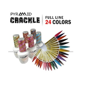 Pyramid Gel Polish, Crackle Collection, 0.5 Oz, Full line of 24 colors (From 01 To 24) OK1021MD