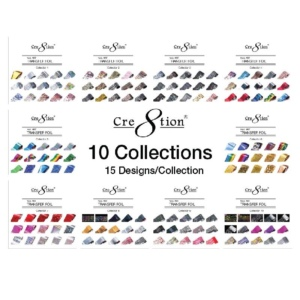 Cre8tion Nail Art Transfer Foil, Full of 10 Collections, Collection 01 to 10, 1101-1000F OK0424VD