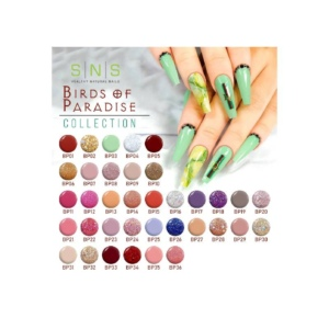 SNS Gelous Dipping Powder, Birds Of Paradise Collection, Full Line of 36 Colors (from BP01 to BP36) OK0809LK