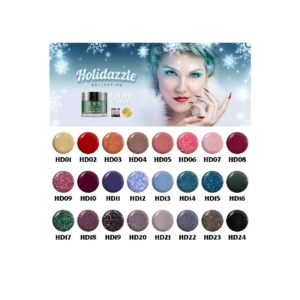 SNS Gelous Dipping Powder, Holidazzle Collection, Full Line of 24 Colors (From HD01 to HD24), 1 oz OK1106LK