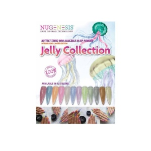 Nugenesis Dipping Powder, Jelly Collection, Full Line of 12 Colors (from NJ 501 to NJ 512) KK1206
