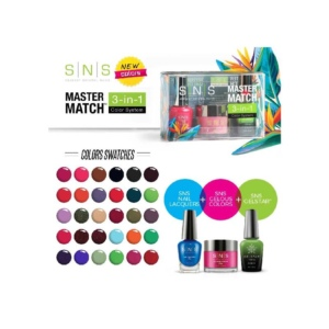 SNS 3in1 Mastermatch, Nail Lacquer + Gelous Colors + Gel Star, Full Line of 31 Colors OK1023