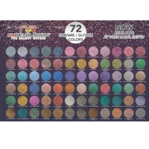 NuRevolution Dipping Powder, Chrome / Glitter Collection, 2 Oz, Full Line of 72 Colors (from CG01 to CG72), 0.5oz OK1129