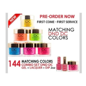 DC 3in1 Dipping Powder + Gel Polish + Nail Lacquer, Full Line of 144 Colors (from DC 001 to DC 144)