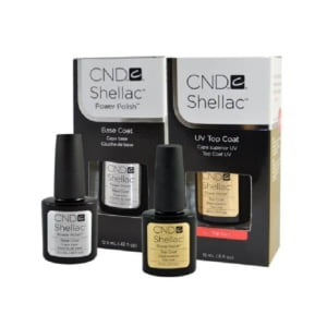 Shellac Gel UV Top Coat .5oz & Base Coat .42oz 2/pack