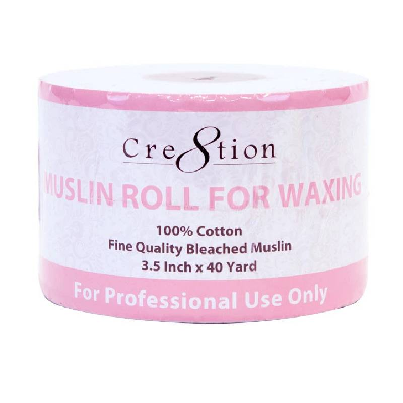 Cre8tion Muslin Roll For Waxing (3.5 inch X 40 Yard)