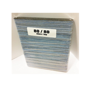 Black Round File White Blue Line 80/80 50pcs