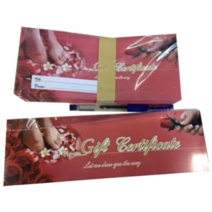 Gift Certificate With Envelope VS2 Rose
