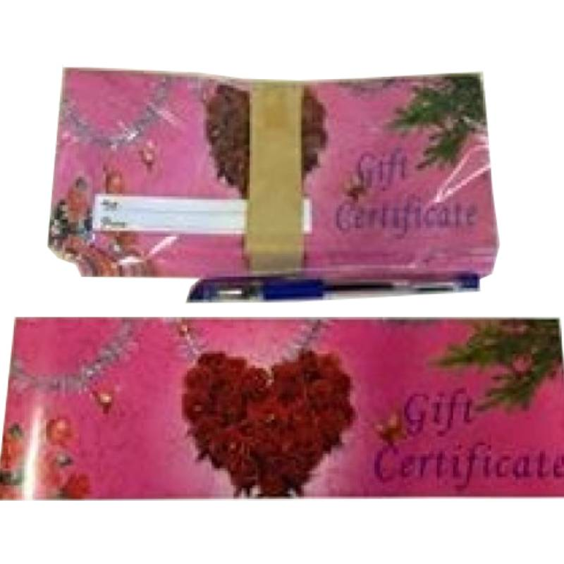 Gift Certificate with envelope VS3 rose