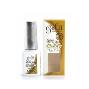 Gel II Gel Polish No Cleanse Top Coat Radiant Mirror Shine .5oz/15ml
