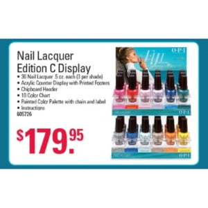 Nail Lacquer Edition C Display
